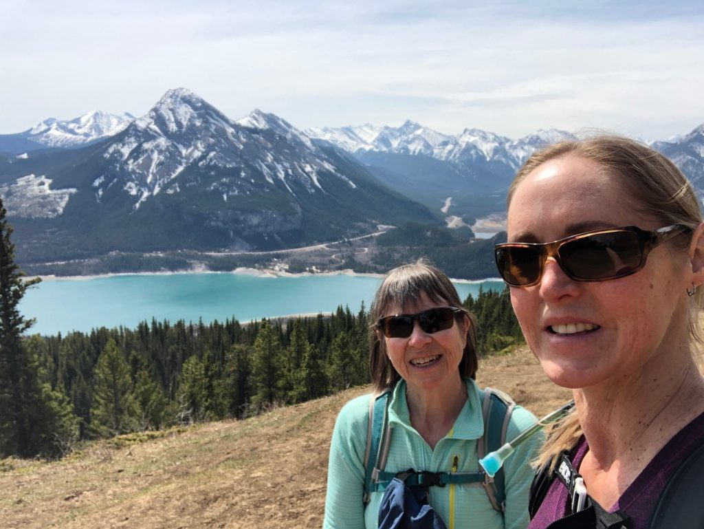 Donna McKown out on the trail hiking for hospice